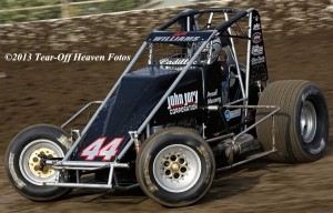"""""""The Cadillac"""" Cody Williams. 7th in USAC/CRA points. Photo by Steve Lafond / Tear-Off Heaven Fotos."""