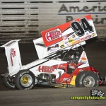 Jeff Swindell running with a broken nose wing. - Mike Campbell / campbellphoto.com