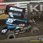 Sam Hafertepe, Jr. just before tipping over during the FVP Knoxville Nationals. - Mike Campbell / campbellphoto.com