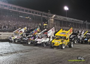 The parade lap for the 2013 FVP Knoxville Nationals. - Mike Campbell Photo