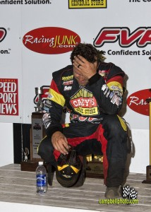 Brian Brown after finishing second at the 2013 FVP Knoxville Nationals. - MIke Campbell Photo
