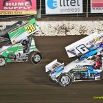 Hud Horgon (#28) racing with Tim Shaffer (#6) Friday at Limaland Motorsports Park. - Mike Campbell Photo