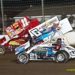 Randy Hannagan (#22H) racing with Tim Shaffer (#6) Friday at Limaland Motorsports Park. - Mike Campbell Photo