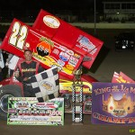 Randy Hannagan in victory lane after winning the King of the Quarter Mile event at Limaland Motorsports Park. - Mike Campbell Photo