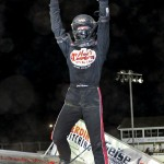 Jared Horstman celebrates in victory lane at Limaland Motorsports Park. - Image courtesy of Limaland Motorsports Park