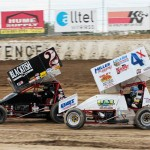 Brent Gehr and Bobby Clark racing at Limaland. - Brent Pierce Photo