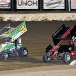Hud Horton racing with Nick Roberts. - Brent Pierce Photo
