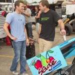 Kasey Kahne talking shop with Willie Kahne at Knoxville. - Mike Campbell Photo