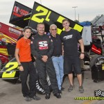 Ed Lynch, Jr. with his family at Knoxville Raceway. - Mike Campbell Photo