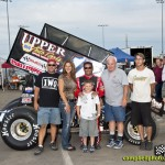 Ed Neumeister and Randy Hannagan with Hannagan's family and crew. - Mike Campbell Photo