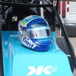 Cody Darrah's helmet. - T.J. Buffenbarger Photo
