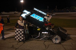 JoJo Helberg in victory lane at Anderson Speedway. - David Sink Photo