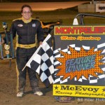 Lynsey Liguori won the midget event at the Montpelier Motor Speedway on Saturday night August 17, 2013. - Bill Miller Photo