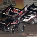 Stevie Smith (19s) and Steve Kinser (11) (Serena Dalhamer photo)
