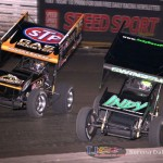 Donny Schatz (15) and Kevin Swindell (71) (Serena Dalhamer photo)