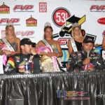 Kevin Swindell, Brian Brown, Donny Schatz, and Justin Henderson (Serena Dalhamer photo)