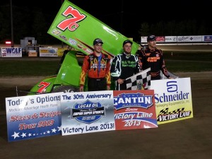 Dylan Swiernik wins over Larry Wight and Steve Poirier at Brewerton.  - ESS Photo
