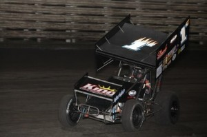 Danny Lasoski on his way to victory Wednesday night at Knoxville Raceway. - Serena Dalhamer Photo