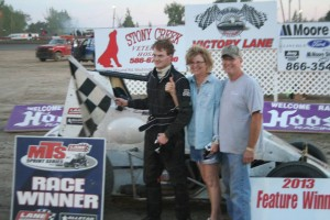 Kevin Hawk in victory lane at Silver Bullet Speedway. - MTS Photo