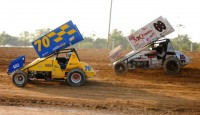 What used to be necessary has become fun for T.J. when going to Crystal Motor Speedway...
