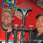 Dustin Dagget in victory lane.  - T.J. Buffenbarger Photo