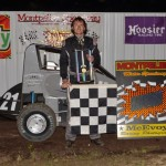 Tate Martz won the midget car feature event. Nick Speidel won the MTQRL feature event. - Bill Miller Photo