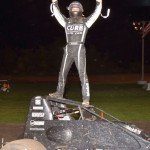 Bryan Clauson was the big winner Friday night at the Gas City I-69 Speedway. - Bill Miller Photo