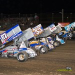 Parade lap on Saturday night of the Jim Ford Classic. - Mike Campbell Photo