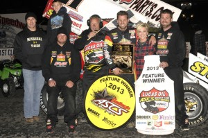 Brian Brown raced from eighth to win the 40th annual Devil's Bowl Winter Nationals on Saturday, October 19 against the Lucas Oil ASCS presented by MAVTV American Real (ASCS / Rob Kocak)