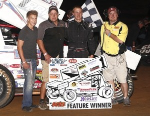Mickey Walker in victory lane. - Image courtesy of OCRS