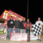 Randy Hanangan in victory lane at Waynesfield Raceway Park. - James McDonald / Apexonephoto
