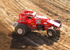 Mike Spencer of Temecula leads the USAC/CRA Series with three fast qualifying times in the previous seven races at Perris Auto Speedway this season.   - Doug Allen Photo