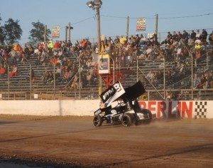 The Engine Pro Sprints on Dirt presented by ARP event at Berlin Raceway, practically in T.J.'s back yard,  cracked the top-10.
