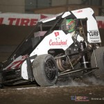 Kyle Larson up on the berm at the Chili Bowl. - Serena Dalhamer Photo