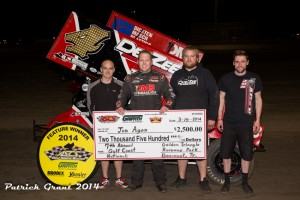 Iowa's Jon Agan collected $2,500 at the Golden Triangle Raceway Park in Beaumont, Texas with the Griffith Truck and Equipment ASCS Gulf South Region. (ASCS / Pat Grant)