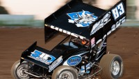 Kyle Hirst won the King of the West Sprint Car Series feature Saturday night at Ventura Raceway.