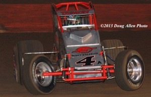 "The Demon"" Damion Gardner. USAC/CRA Point Leader. Photo by Doug Allen."