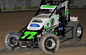 R.J. Johnson. 2013 USAC SouthWest Sprint Car Champion. Photo by Patrick Shaw / Backed In Photography.