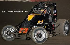 Ryan Bernal - 2013 USAC Western Classic Sprint Car Champion. Photo by Steve Lafond / Tear-Off Heaven Fotos.