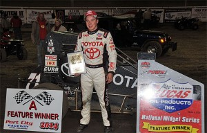 Christopher Bell completed a sweep of the POWRi season-opening double by winning Sunday night's Turnpike Challenge finale atop the 1/8-mile Port City Raceway in Tulsa, OK. - TWC Photo