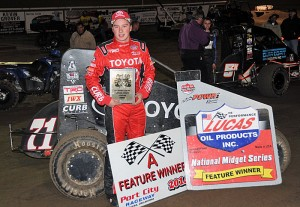 Christopher Bell topped the opening night of the POWRi Midget Turnpike Challenge as Midgets took to the 1/8-mile Port City Raceway clay oval for the first time. -TWC Photo