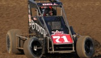 Christopher Bell led a sweep of the podium for Keith Kunz Motorsports on Saturday night at Angell Park Speedway.