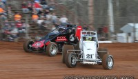 Images from Friday night's sprint car program at Bloomington Speedway...