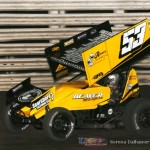 Joe Beaver took the 360 feature win at Knoxville Raceway - Serena Dalhamer photo