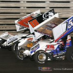 Ian Madsen (18) gets by Brooke Tatnell (55) on the start and never looks back - Serena Dalhamer photo