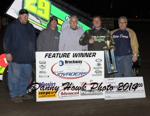 Russ Hall in victory lane with his race team. - Danny Hawk Photo