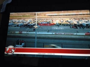 """Eldora's high banks looked great on my 40"""" television via their pay per view on Saturday night."""