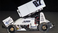 Aaron Reutzel added his fourth win of the season this past Friday in ASCS competition, doing so at the Creek County Speedway, leading start to finish in the night's Feature event with the American Bank of Oklahoma ASCS Sooner Region.