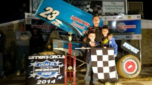 T.J.Stutts in victory lane at Selinsgrove Speedway. - Image courtesy of ESS