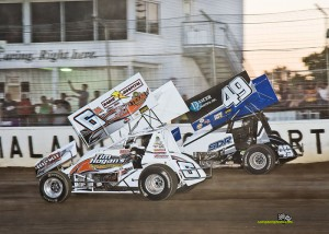 Max Stambaugh (#6) racing with Shawn Dancer (#49) Friday at Limaland Motorsports Park. - Mike Campbell Photo